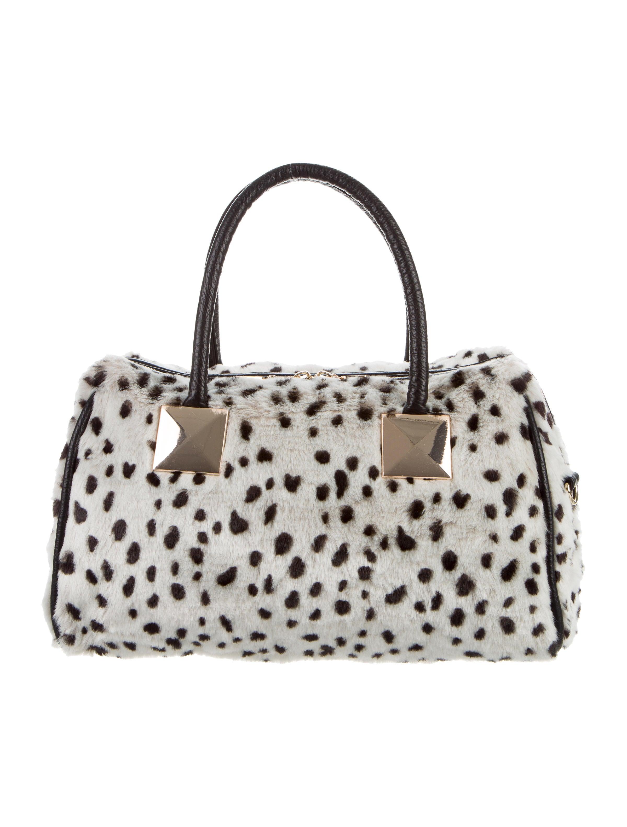2af0df9ffd Adrienne Landau Snow Leopard Faux Fur Satchel - Handbags - ADR21735 ...