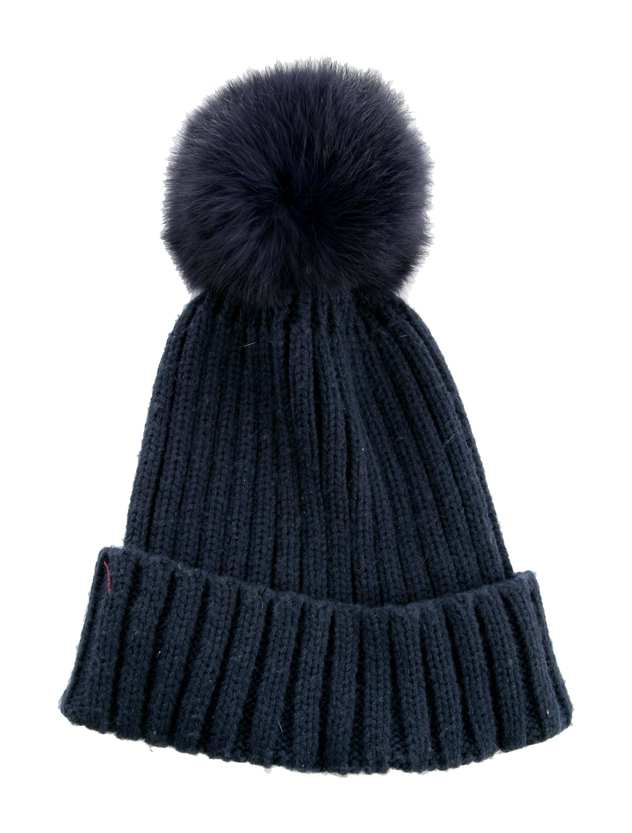 9137d00599f1d7 Adrienne Landau Fur Pom-Pom Beanie - Accessories - ADR22669 | The ...
