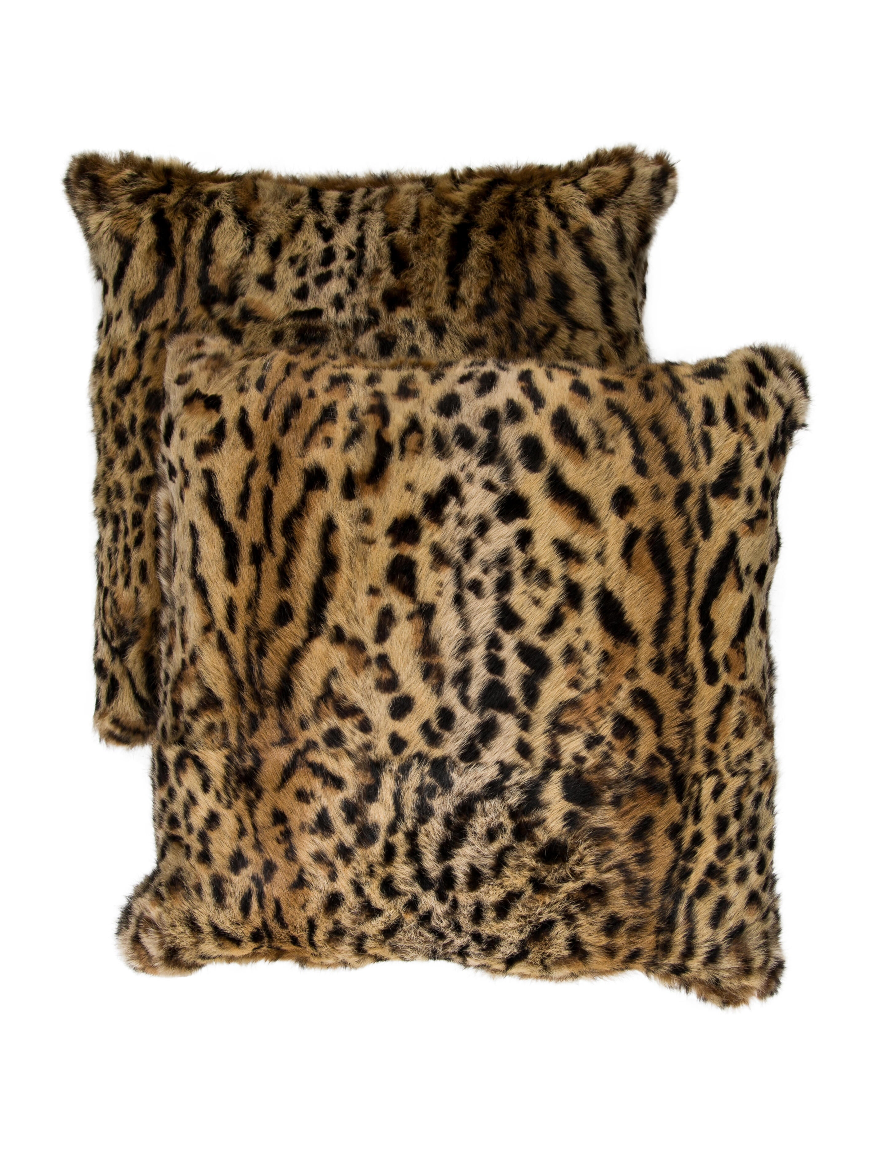 Adrienne Landau Pair Of Rabbit Fur Throw Pillows Pillows Throws The Realreal