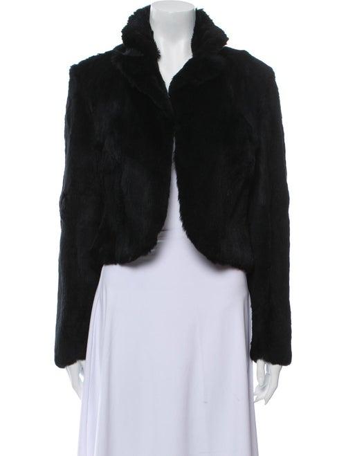 Adrienne Landau Fur Short Jacket Black