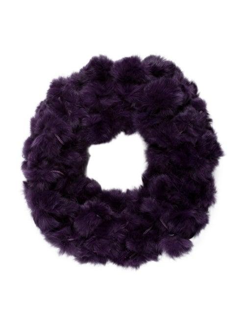 Adrienne Landau Fur Snood Purple