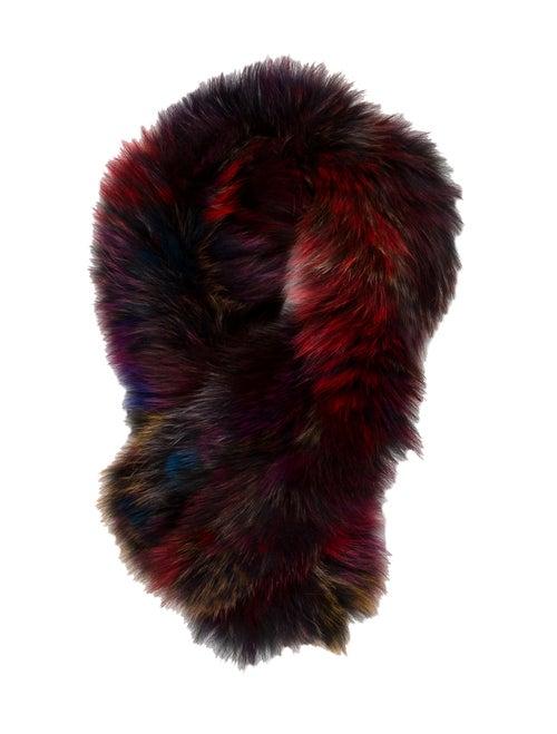 Adrienne Landau Fur Snood Red