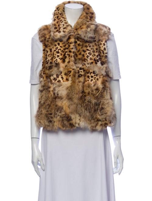 Adrienne Landau Leopard Dyed Coyote Animal Print V