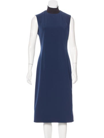 Adeam Mock Neck Midi Dress None