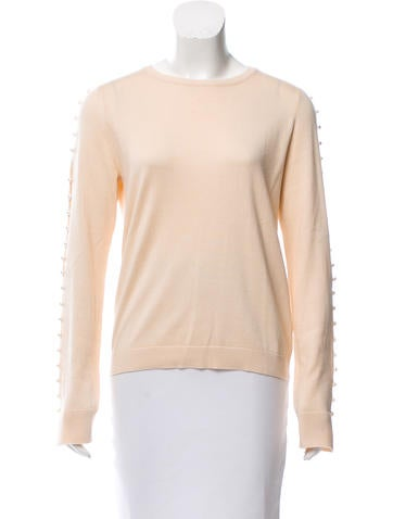 Embellished Silk Sweater w/ Tags