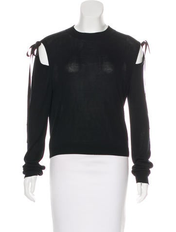 Adeam Lightweight Cold-Shoulder Sweater None