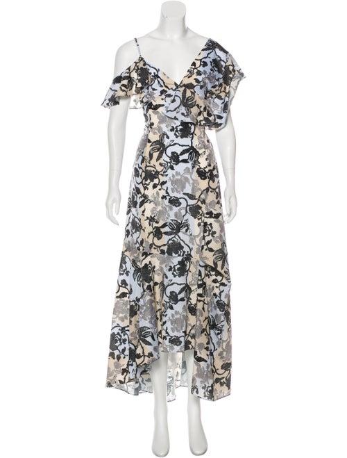 Adeam Printed Maxi Dress blue