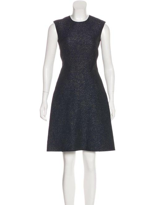 Adeam Siren Jacquard Dress blue