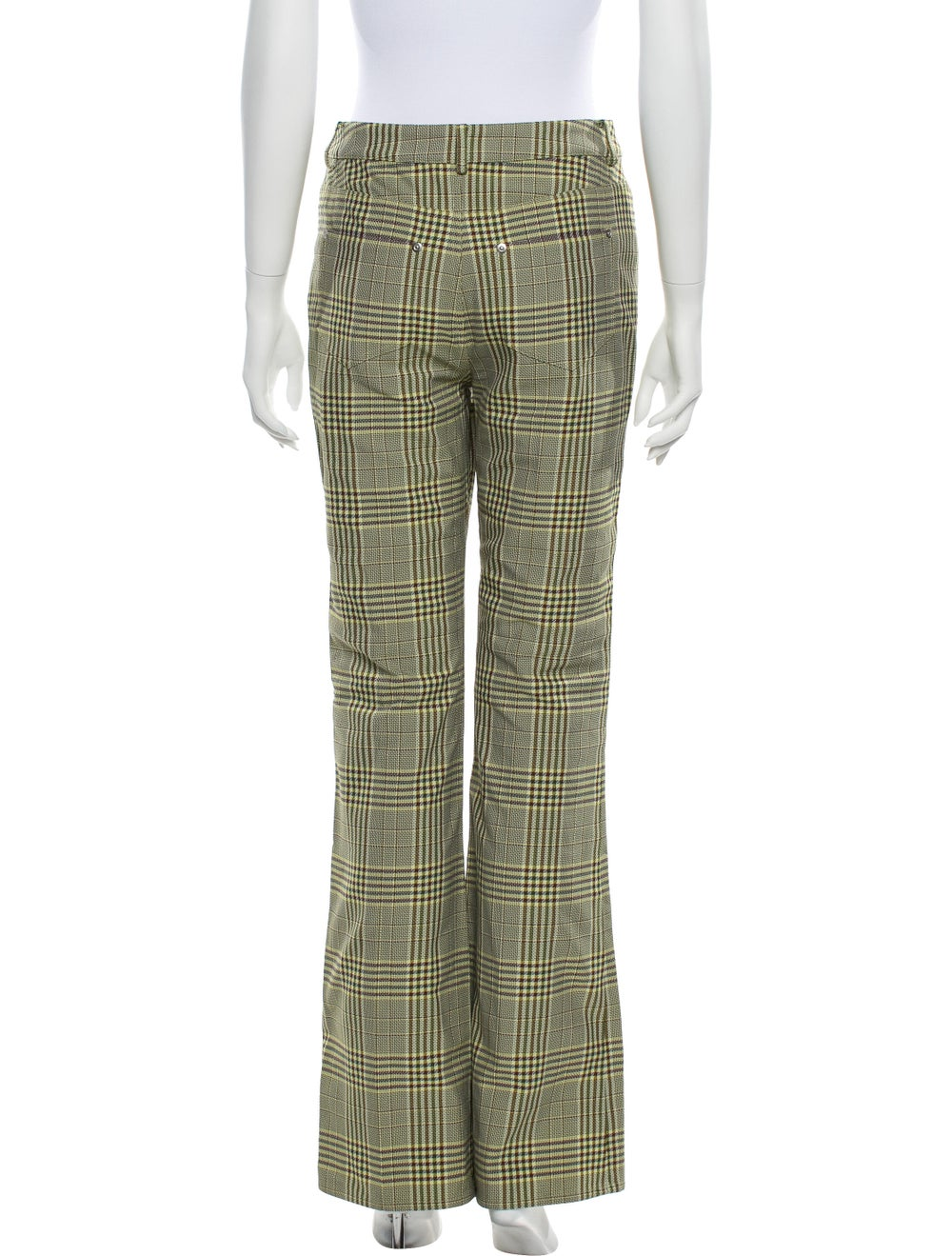 Adeam Plaid Print Flared Pants w/ Tags Yellow - image 3