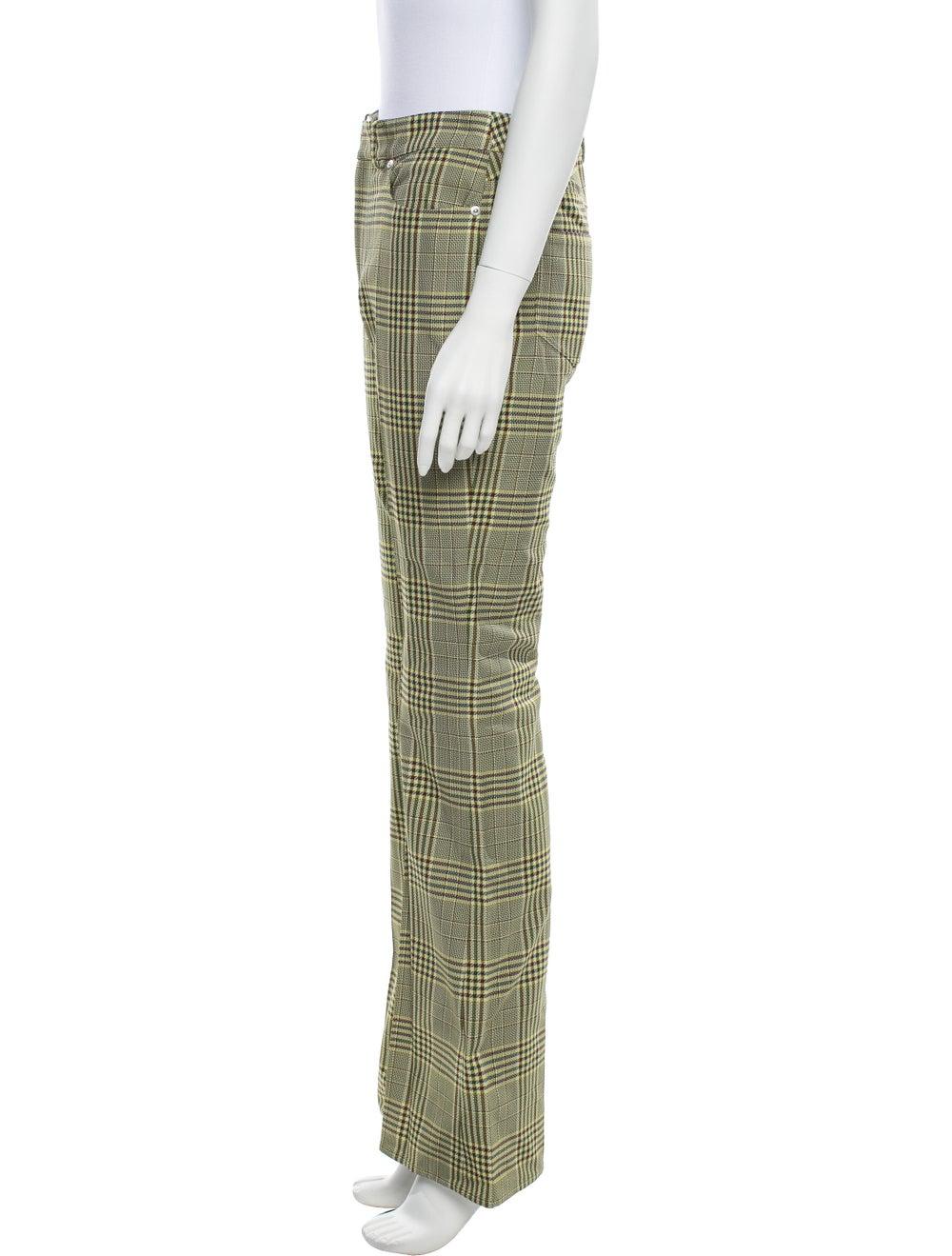 Adeam Plaid Print Flared Pants w/ Tags Yellow - image 2