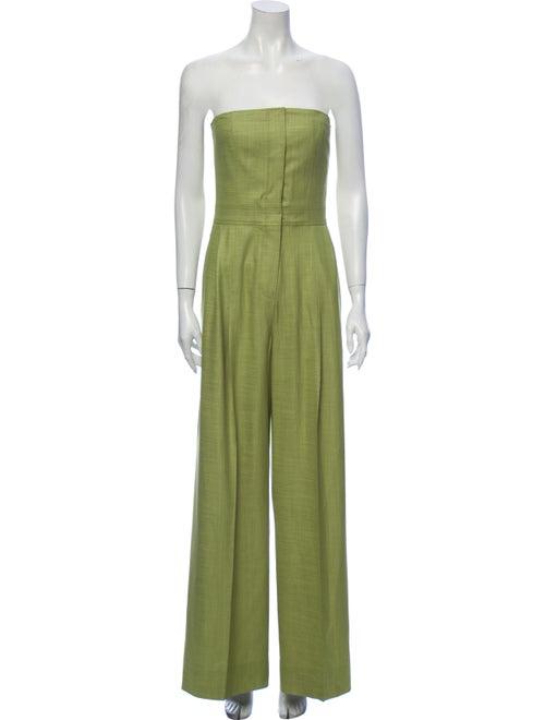 Adeam Strapless Jumpsuit Green