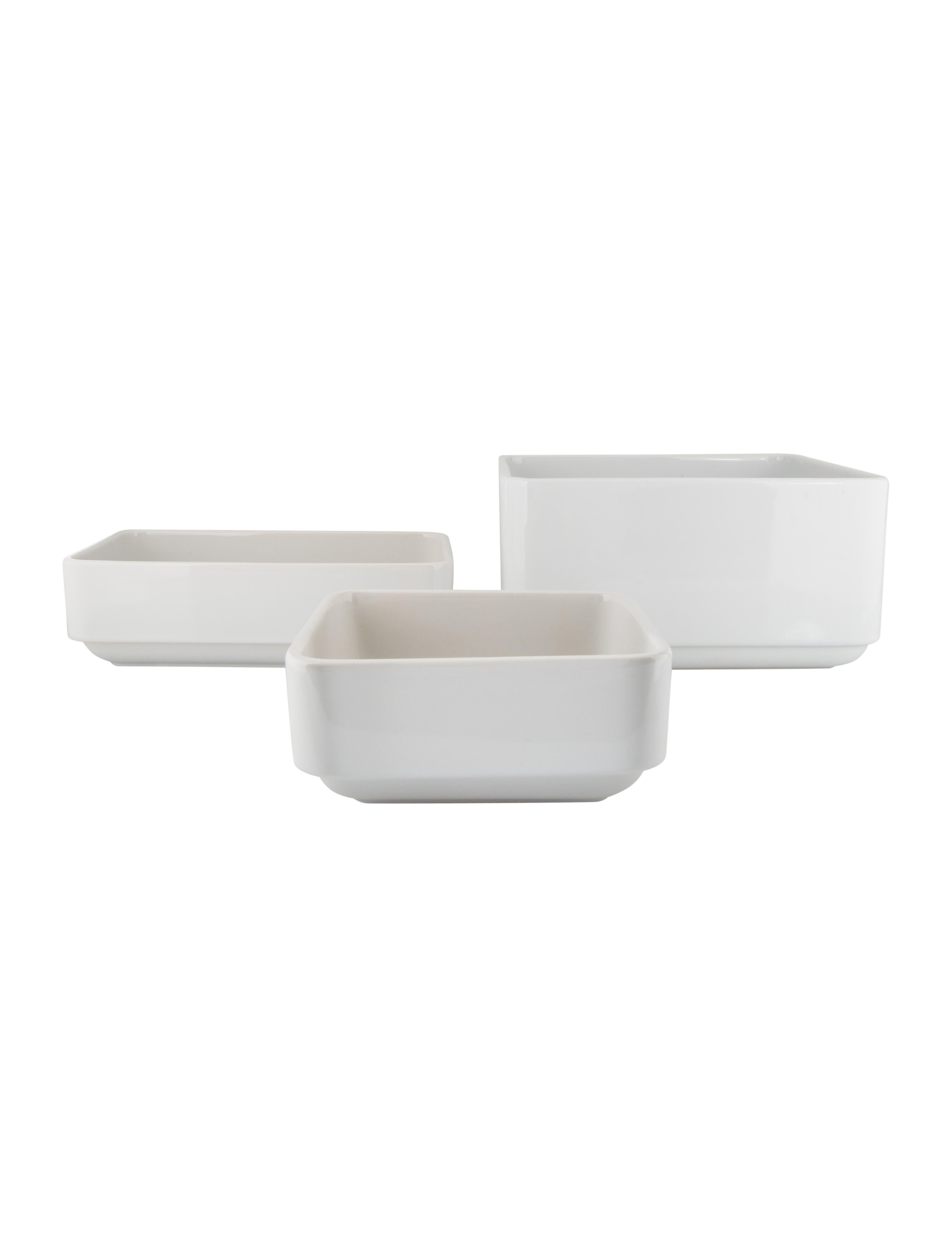 Alessi Set of 3 Programma 8 Stoneware Serving Bowls - Tabletop And ...