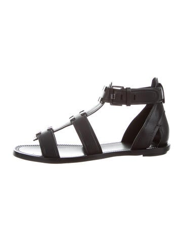 AERIN Leather Embellished Sandals