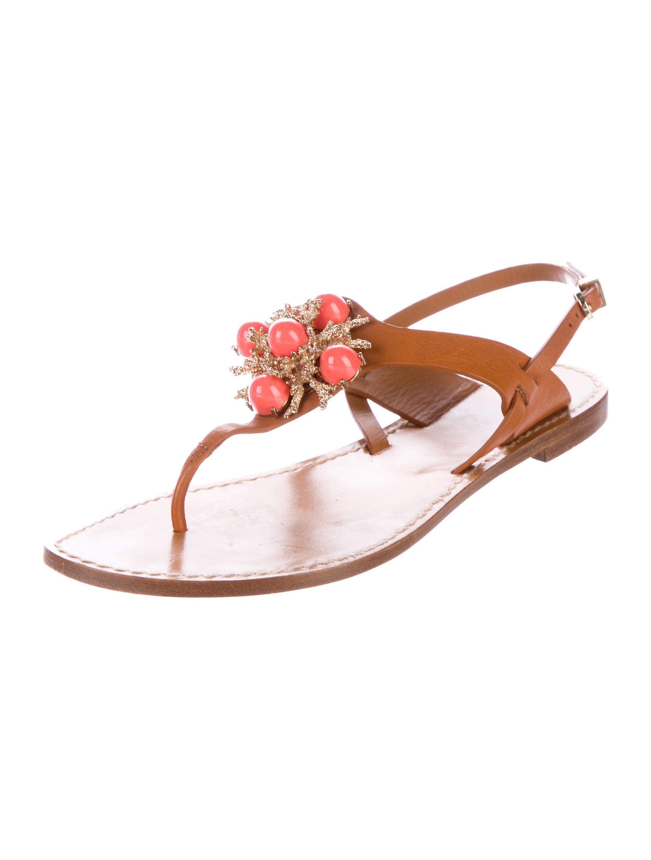 AERIN Embellished Leather Sandals - Shoes