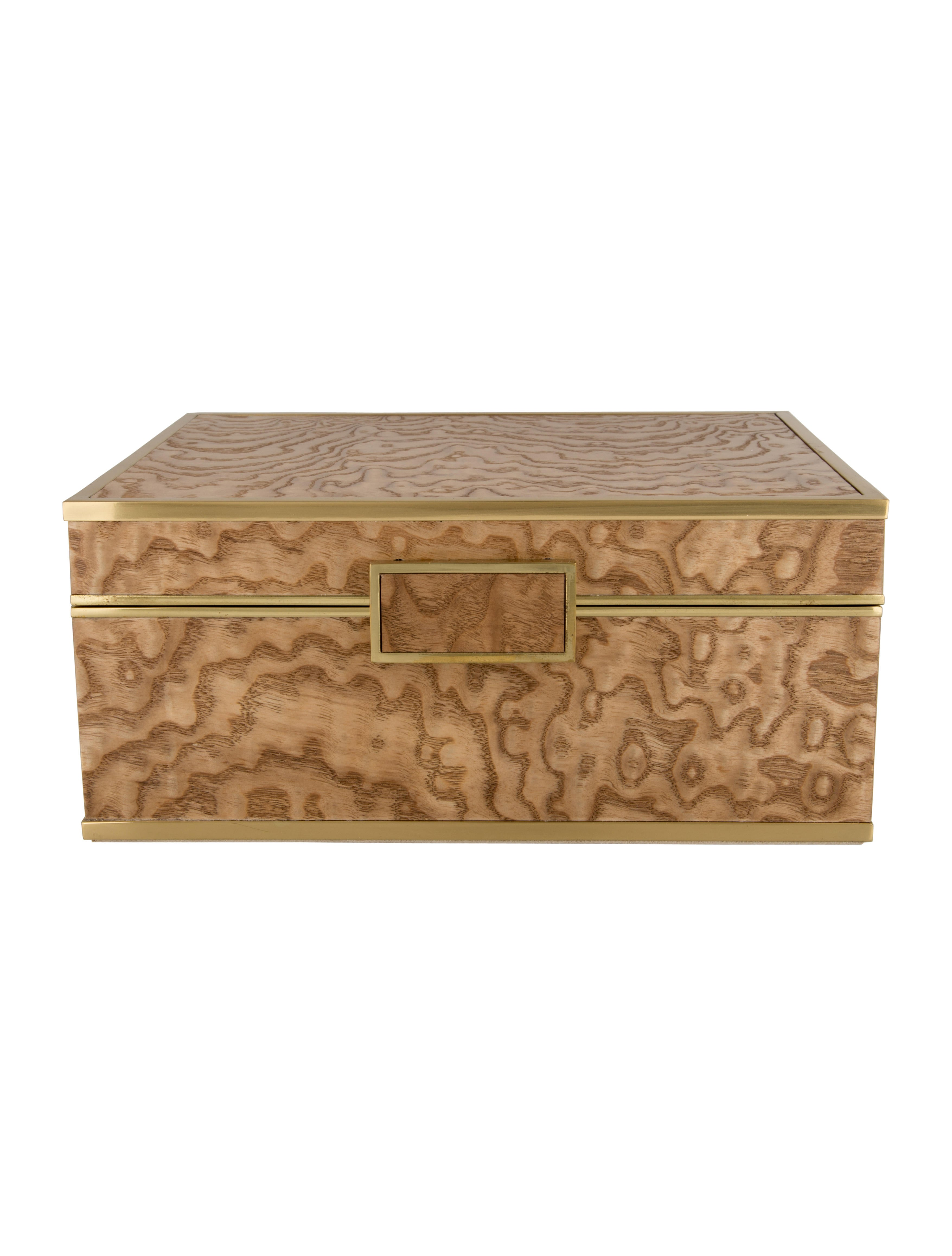 Aerin Burlwood Jewelry Box Decor And Accessories Aer20122 The Realreal