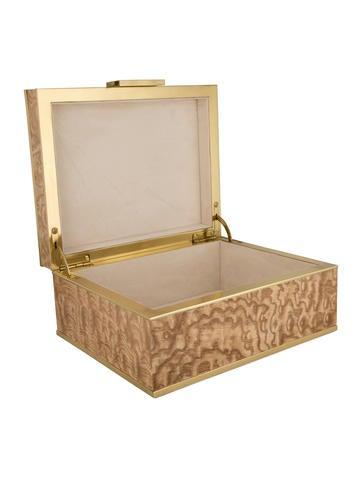 Aerin Burlwood Jewelry Box Decor And Accessories