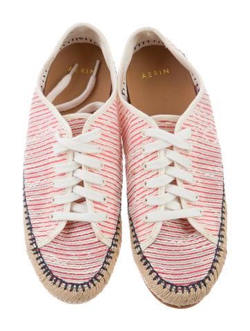 AERIN Canvas Lace-Up Espadrille - Shoes
