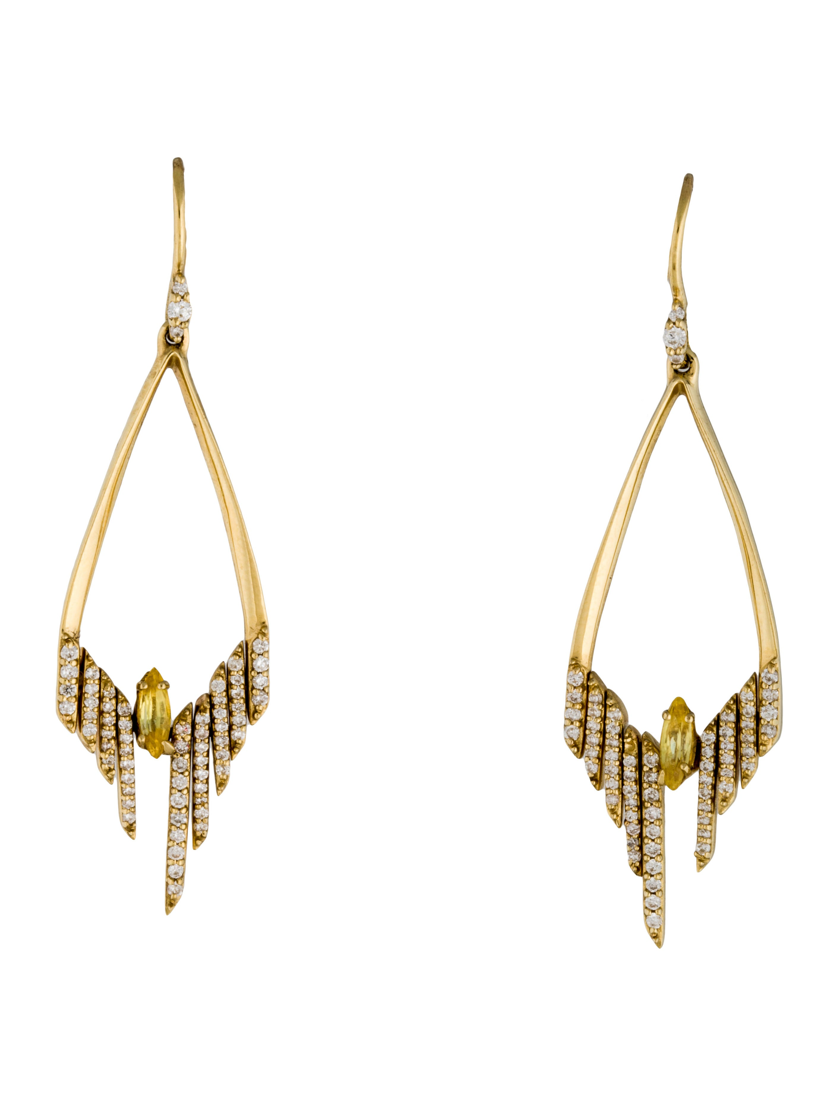 Alexis bittar fine jewelry golden ice diamond earrings for Fine jewelry diamond pendants