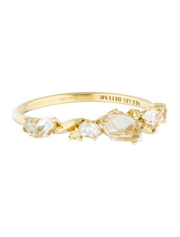 Alexis Bittar Fine Jewelry 18K Diamond, Sapphire & Quartz Ring None