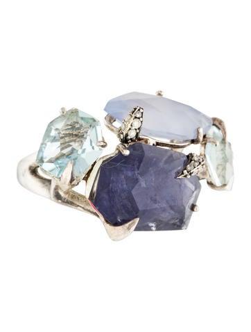 Alexis Bittar Fine Jewelry Mystic Marquise Mulitstone & Diamond Ring None