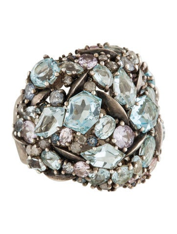 Alexis Bittar Fine Jewelry Heather Marquis Cluster Dome Cocktail Ring None