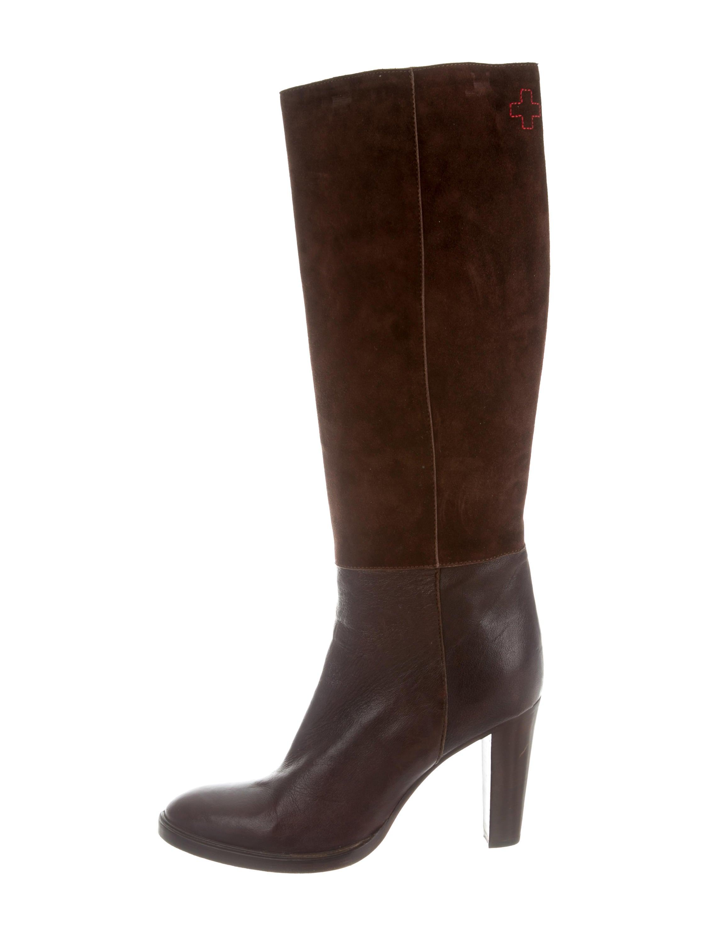 a f vandevorst suede knee high boots shoes afv20105
