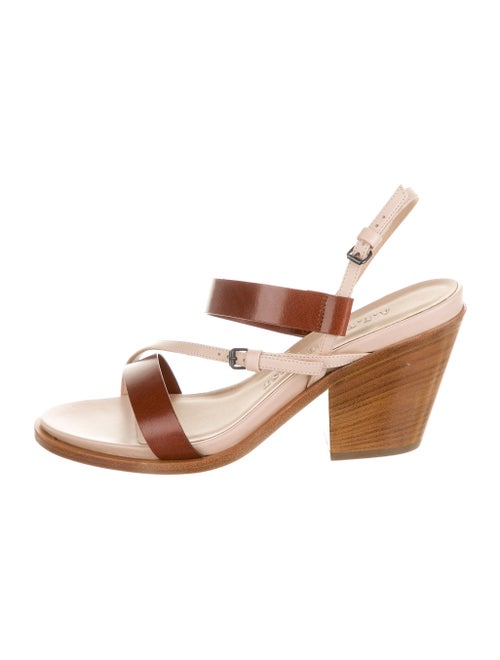 A.f. Vandevorst Leather Slingback Sandals