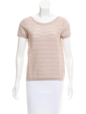 Agnona Mesh-Accented Wool Top w/ Tags None