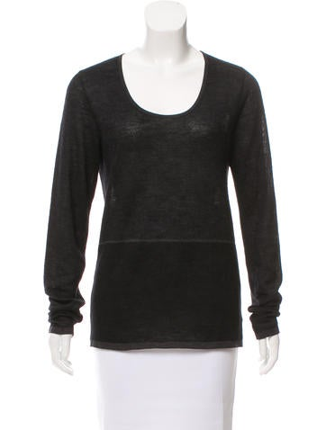 Agnona Cashmere-Blend Knit Top None