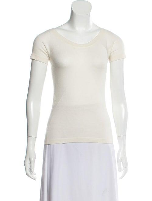 Agnona Short Sleeve Scoop Neck Sweater