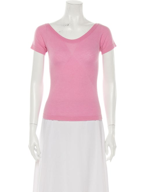 Agnona Scoop Neck Sweater Pink