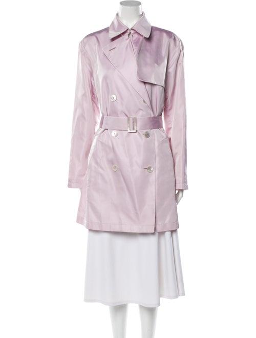 Agnona Silk Trench Coat Purple