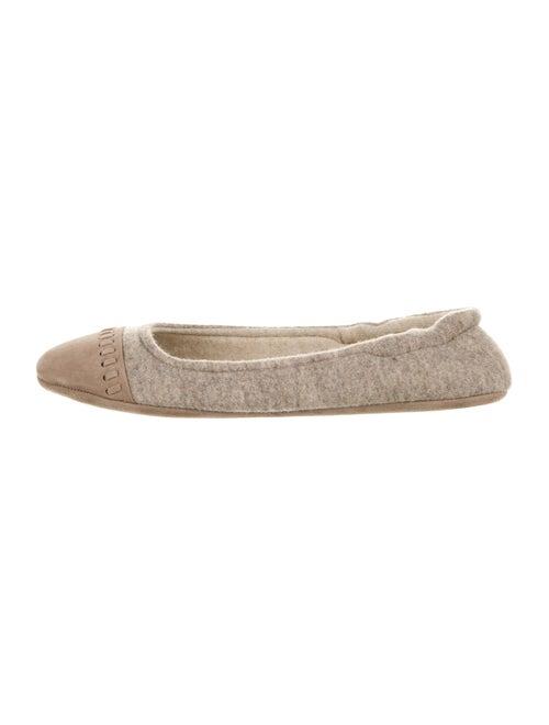 Agnona Cashmere Ballet Flats w/ Tags Tan