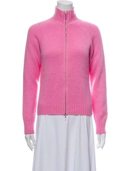 Agnona Cashmere Mock Neck Sweater Pink