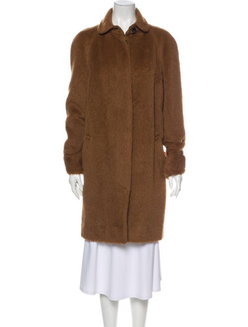 Agnona Alpaca Fur Coat Brown