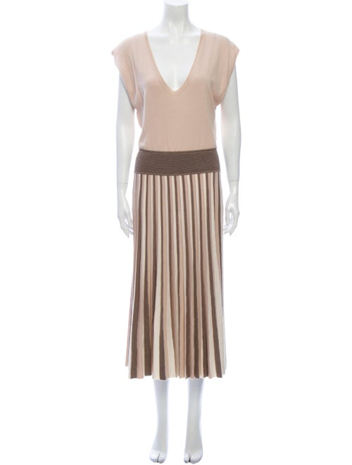 Agnona Wool Midi Length Dress Wool
