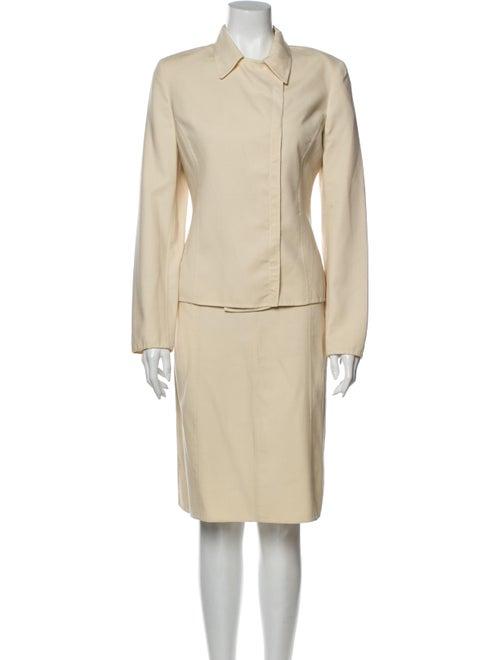 Agnona Silk Skirt Suit