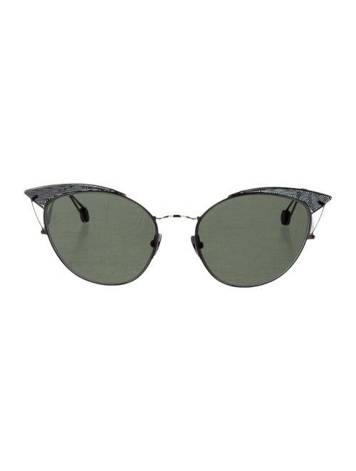 Ahlem Place Violet Cat-Eye Sunglasses Silver