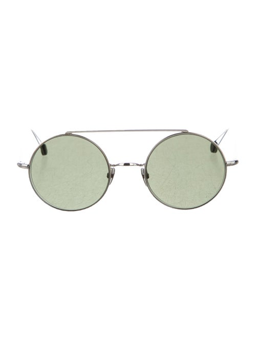 Ahlem Round Tinted Sunglasses Silver