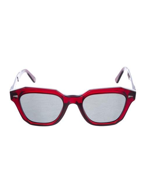 Ahlem Acetate Wayfarer Tinted Sunglasses Red