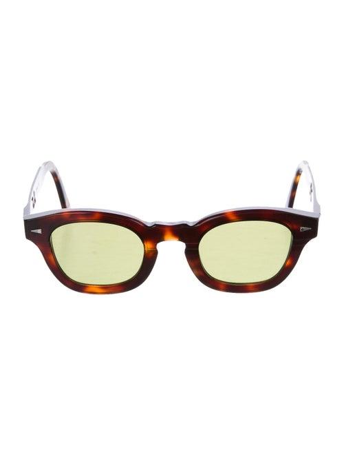 Ahlem Wayfarer Mirrored Sunglasses Brown