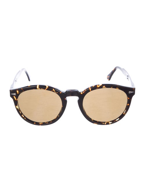 Ahlem Round Tinted Sunglasses Brown