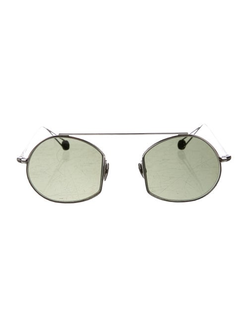 Ahlem Tinted Round Sunglasses Silver