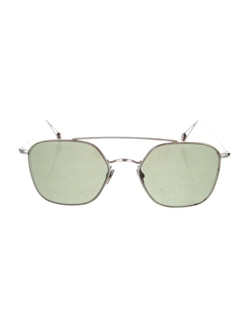 Ahlem Square Mirrored Sunglasses Gold