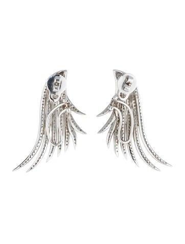 Diamond Wing Earrings