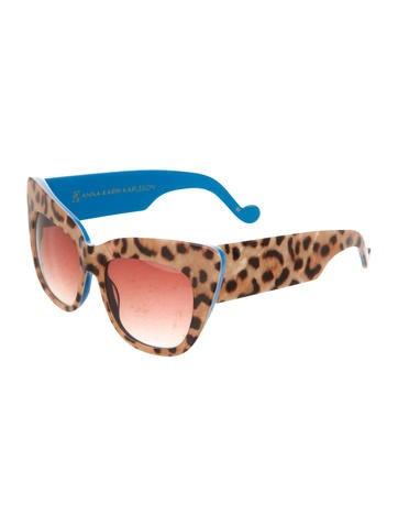 Leopard Cat-Eye Sunglasses
