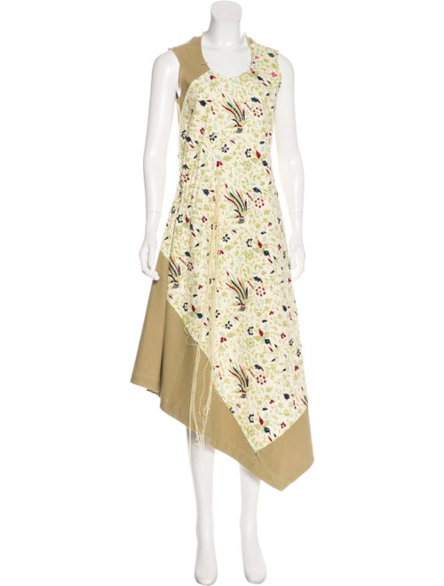 Akira Naka Sequined Maxi Dress khaki