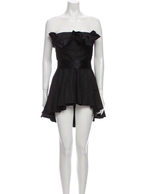 Akira Naka Strapless Mini Dress Black