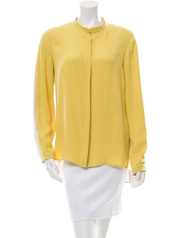 Akris Silk Colorblock Top None