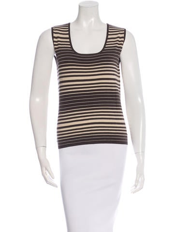 Akris Sleeveless Striped Top w/ Tags None